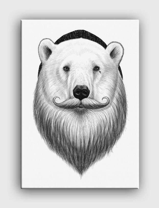 Bearded polar bear - Canvas