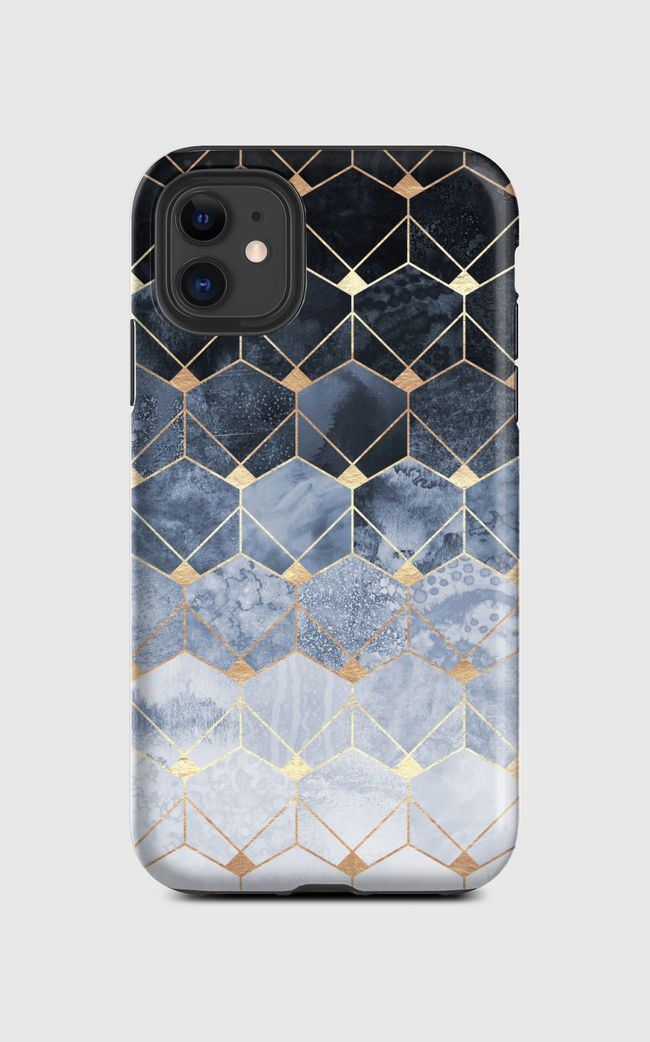 Blue Hexagons And Diamonds - iPhone