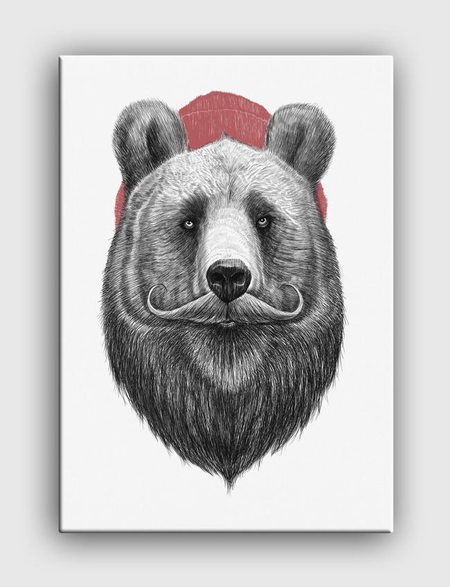 Bearded bear - Canvas