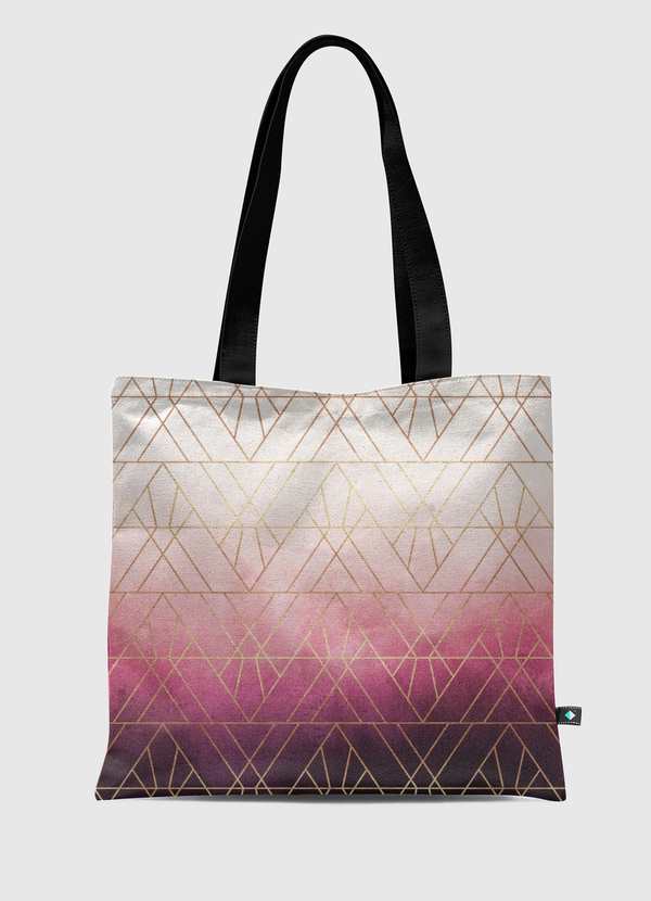 Pink Ombre Triangles Tote Bag