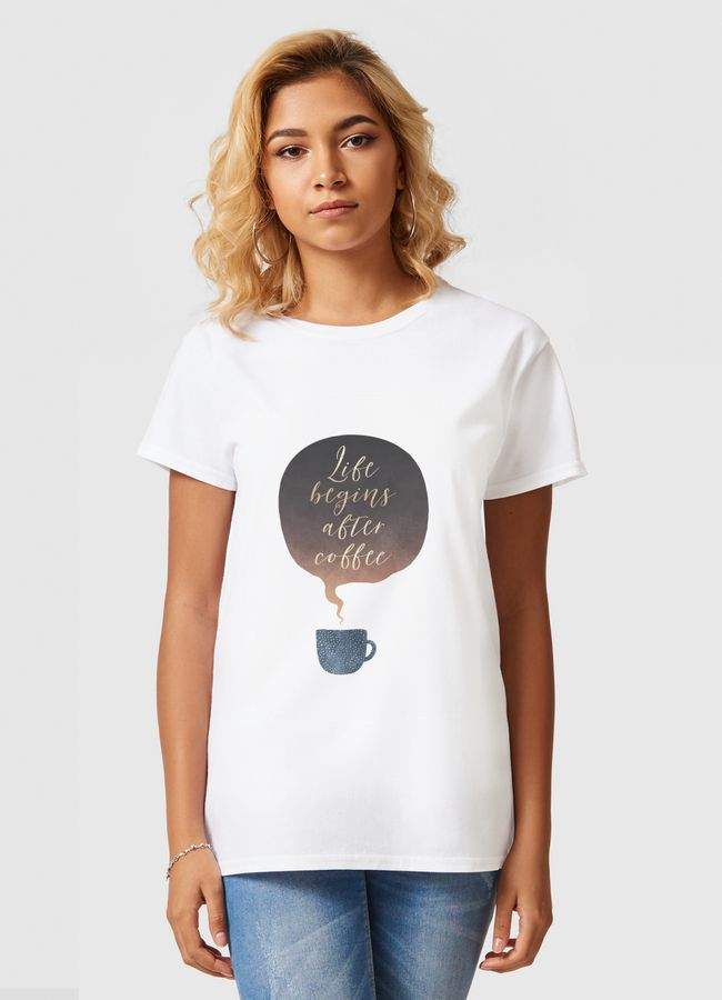 Life Begins After Coffee - Women Basic T-Shirt