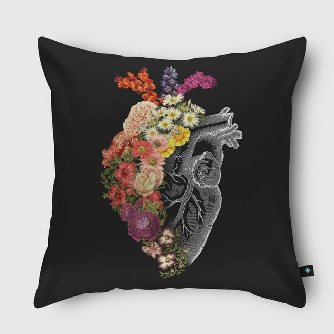 Flower Heart Spring - Throw Pillow