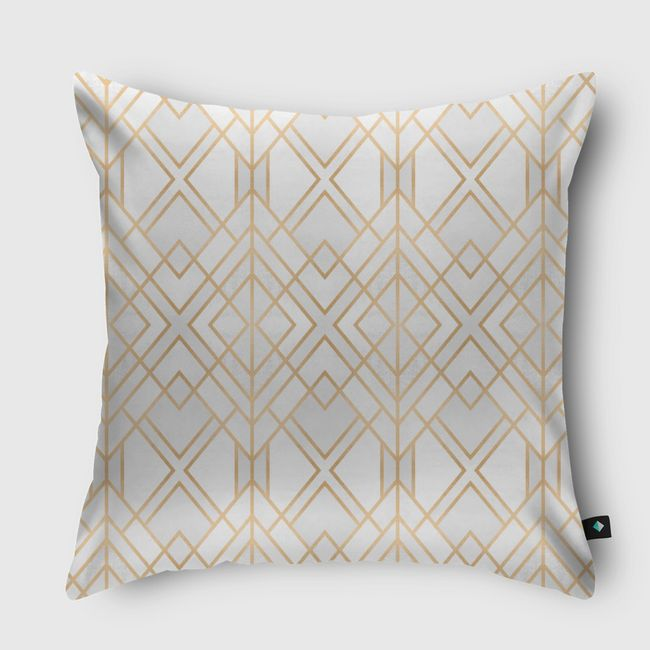 Golden Geo - Throw Pillow