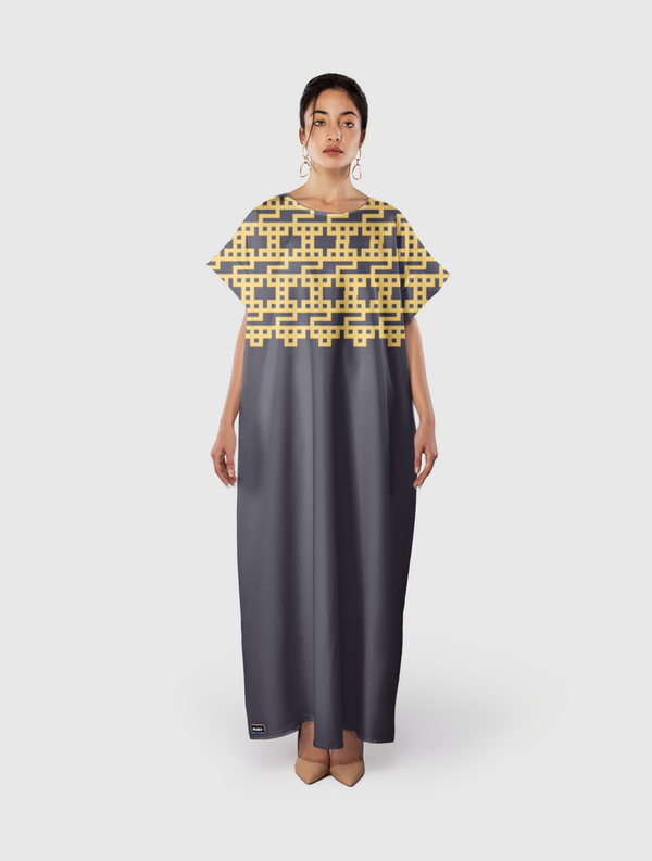هو - كوفي مربع  Short Sleeve Dress