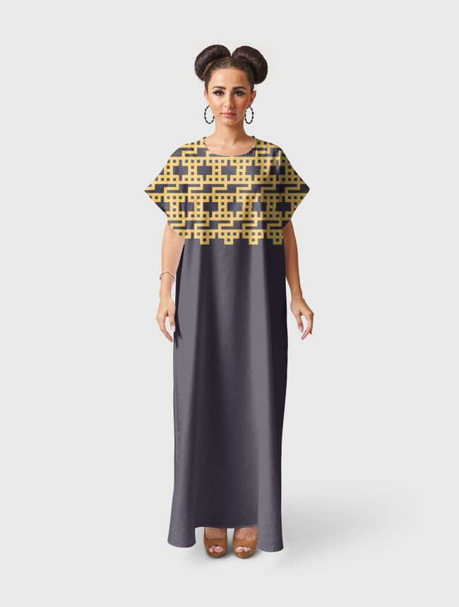 هو - كوفي مربع  - Short Sleeve Dress