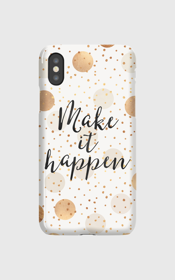 Make It Happen - Gold Dots iPhone