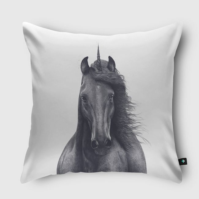 Black unicorn - Throw Pillow