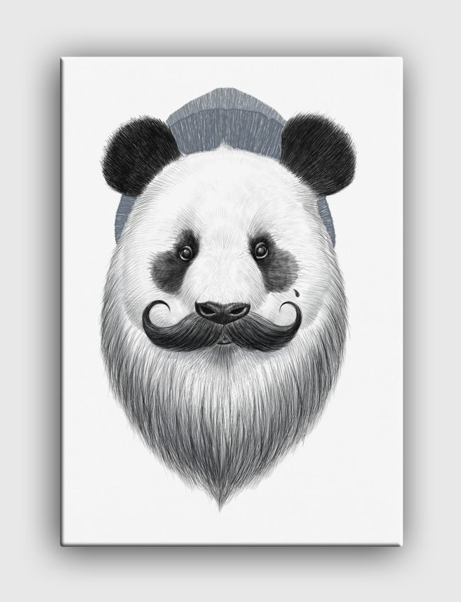 Bearded panda - Canvas