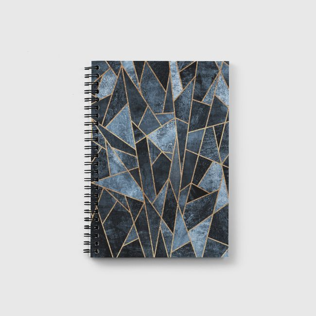 Shattered Soft Dark Blue - Notebook