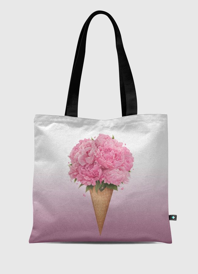 Ice cream with peonies - Tote Bag