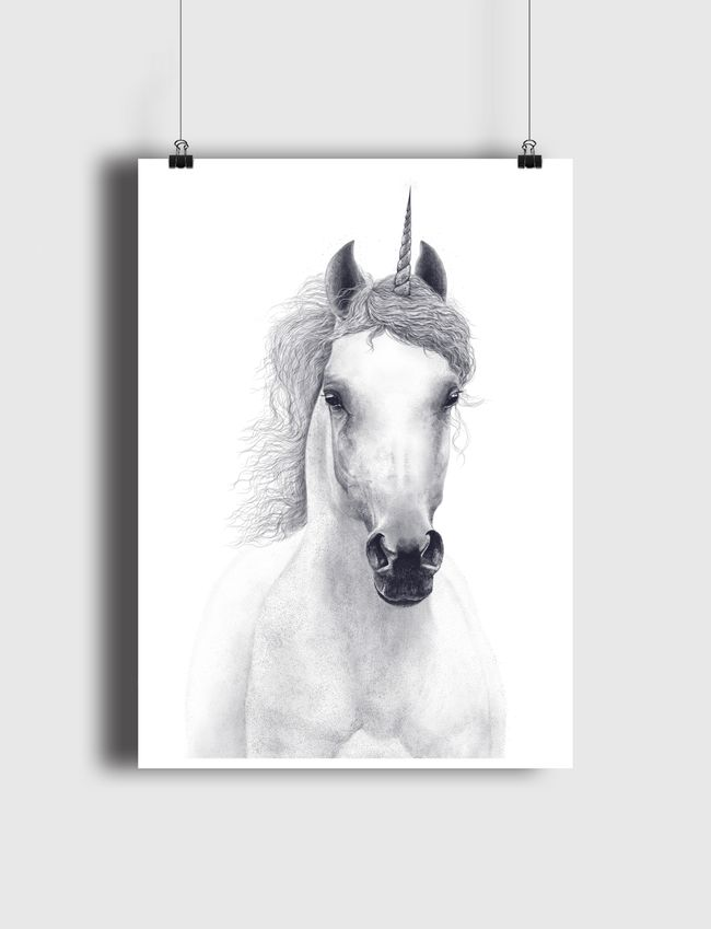White unicorn - Poster
