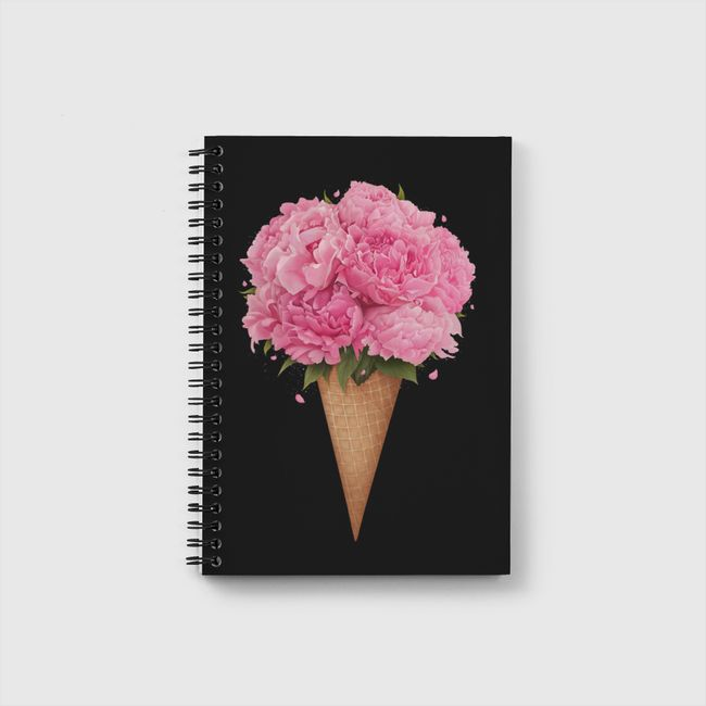 Ice cream with peonies - Notebook