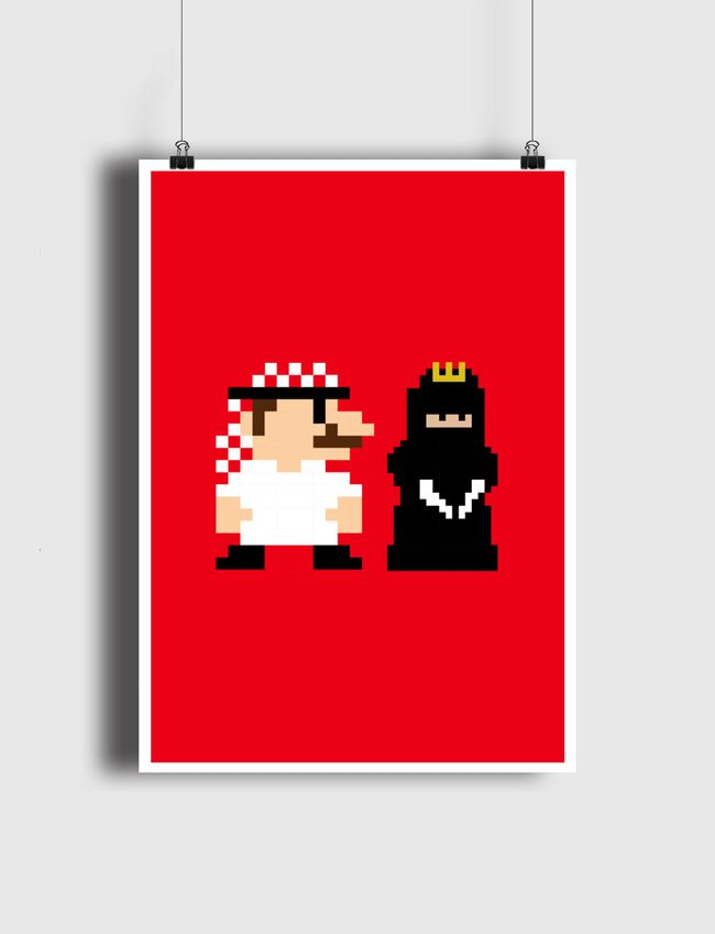 Mario and Princess - Poster