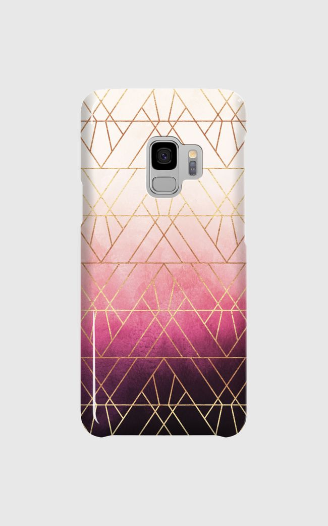 Pink Ombre Triangles - Samsung Galaxy