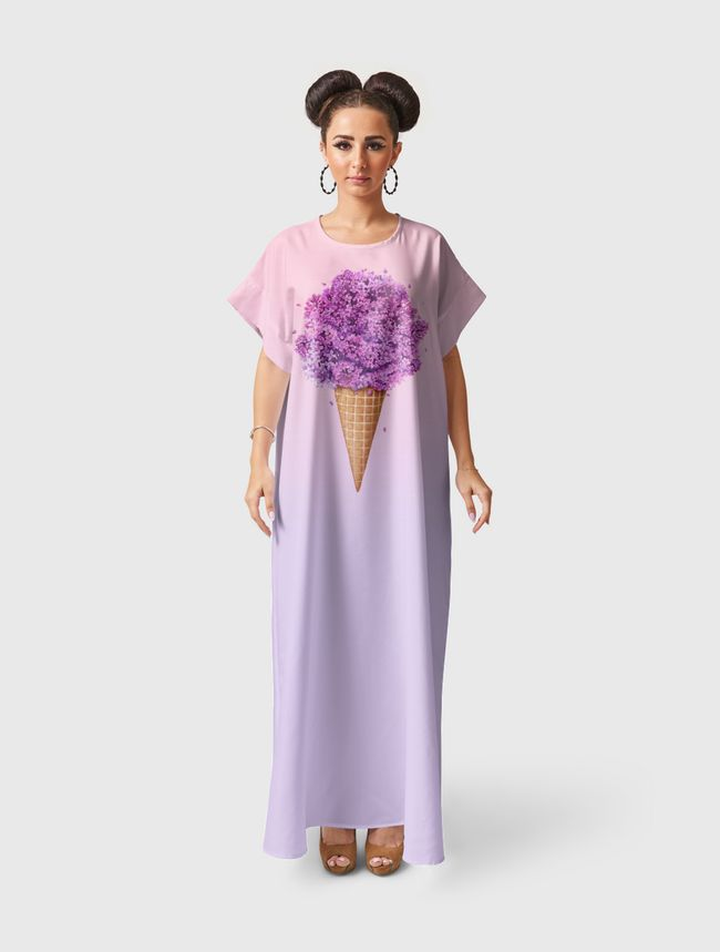Ice cream with lilac - Short Sleeve Dress