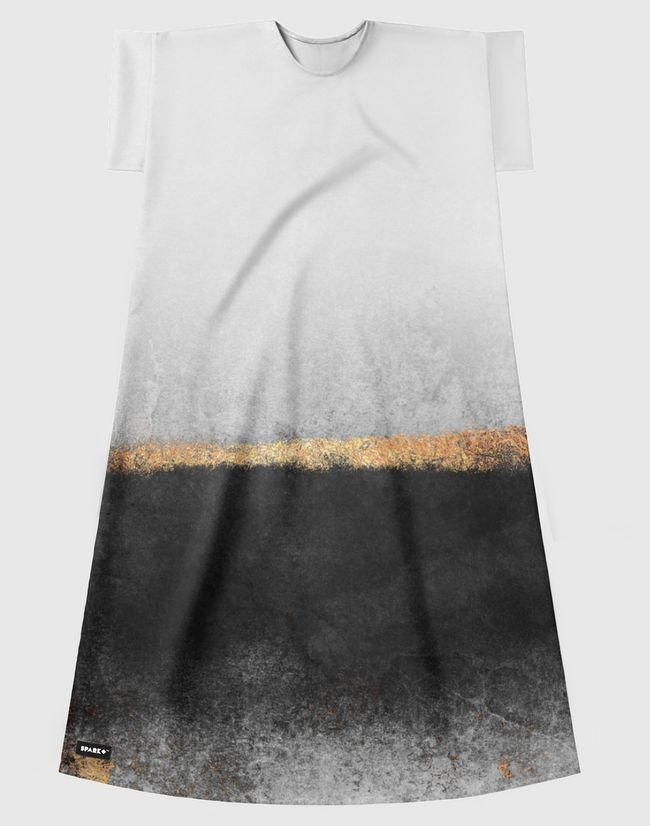 Soot And Gold - Short Sleeve Dress