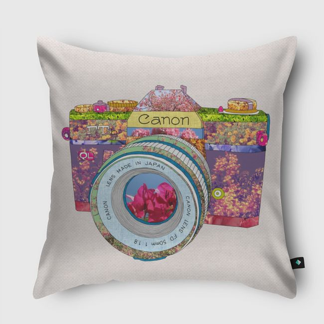 Floral Can0n - Throw Pillow
