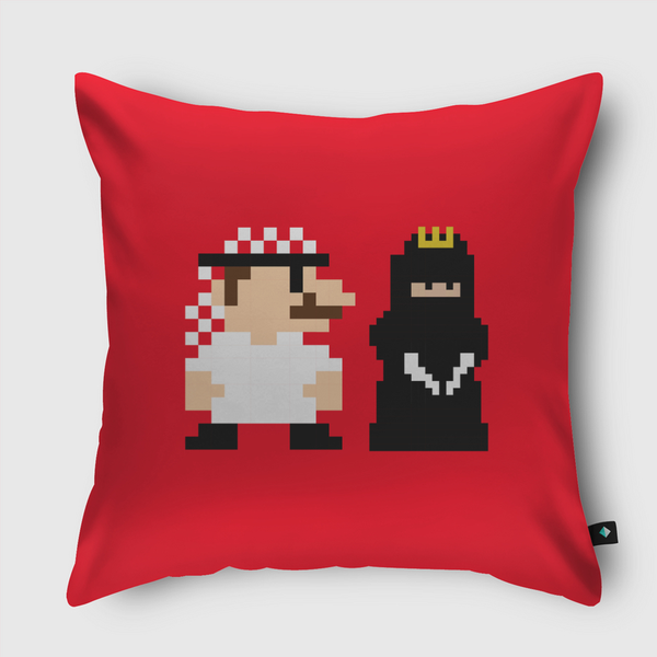 Mario and Princess Throw Pillow