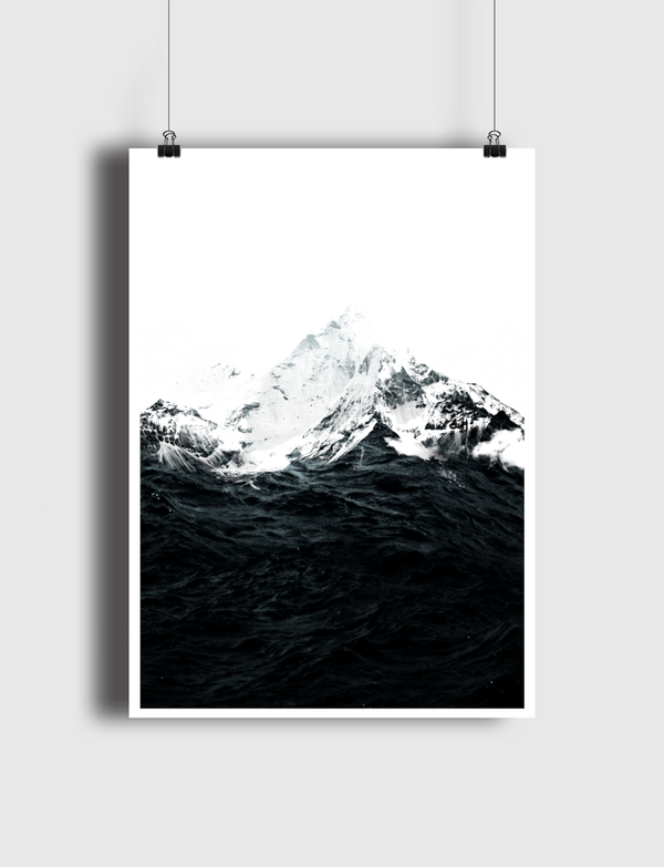 Those waves were like mountains Poster