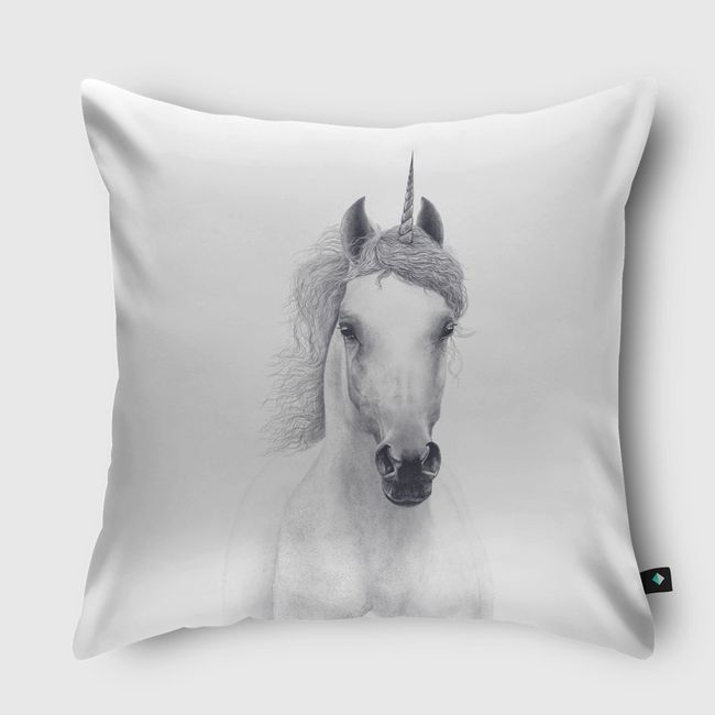White unicorn - Throw Pillow