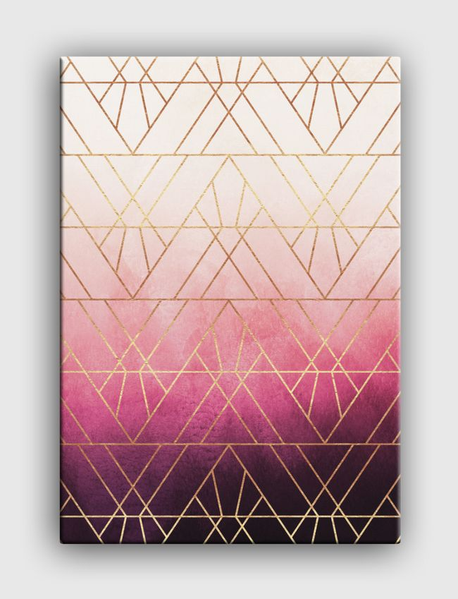 Pink Ombre Triangles - Canvas