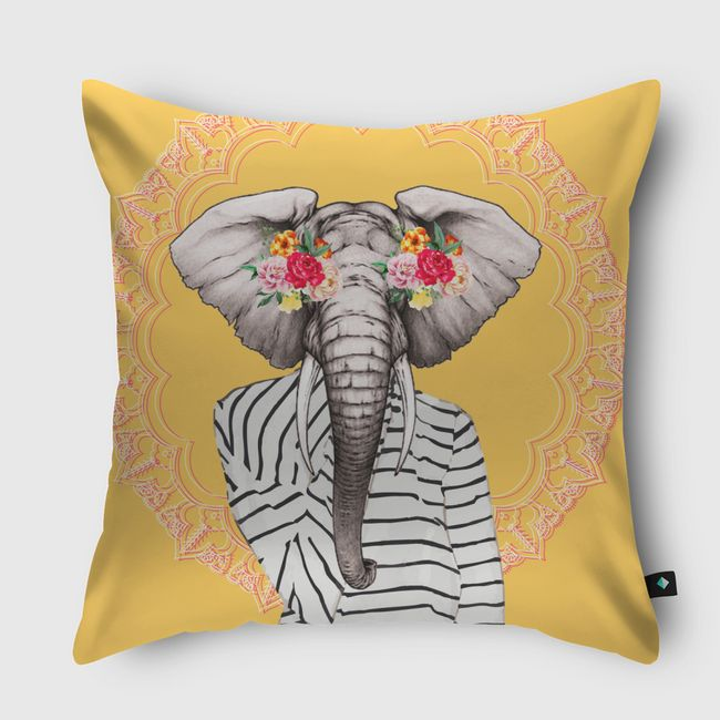 Modern elephant - Throw Pillow