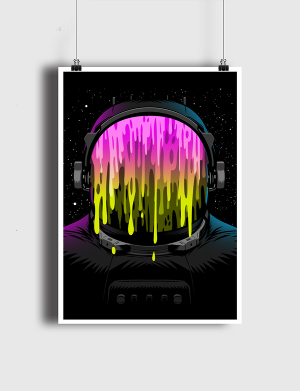 Astronaut painting Poster
